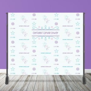 10' x 8' Custom Bridal 10' x 8' Custom Bridal Shower Backdrop with StandShower Event Wall with Stand