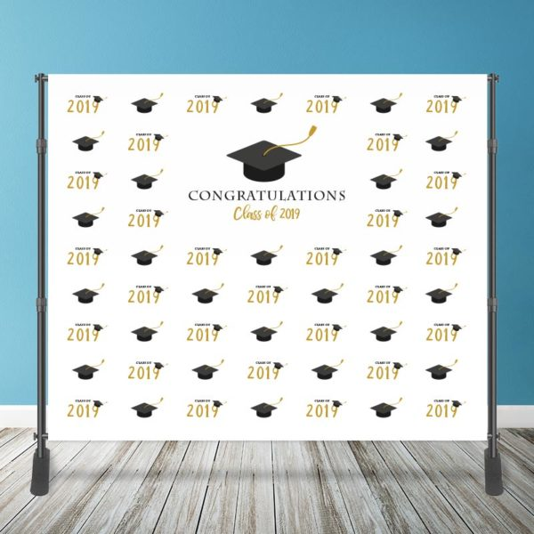 10' x 8' Graduation Backdrop with Stand