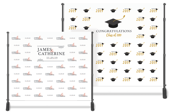 Graduation and Wedding Backdrops